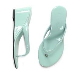 kami et muse Enamel wedge flip flop sandals_KM19s212