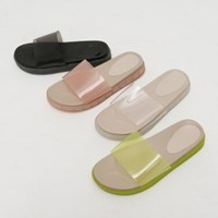 clear platform slipper (4colors)_(1317213)