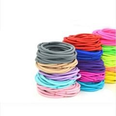 노매듭 M헤어끈 100개 1세트(색상랜덤)