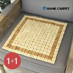 [한일카페트][1+1] 디자인 마작 대나무 방석 하니
