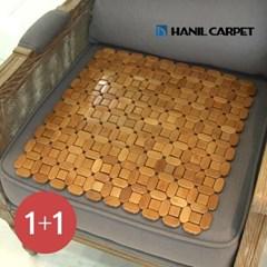 [한일카페트][1+1] 디자인 마작 대나무 방석 큐브