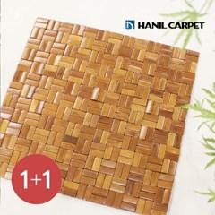 [한일카페트][1+1] 디자인 마작 대나무 방석 트윈스