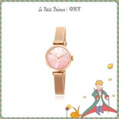 [어린왕자XOST] 어린왕자 핑크행성 로즈골드 메쉬시계 OTW119611TPP