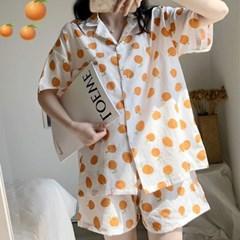[안녕잘자] 당일발송 귤 여름반팔 잠옷세트