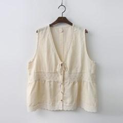 Lovely Linen Lace Vest