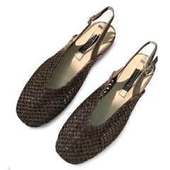 kami et muse Mesh pattern sling back sandals_KM19s218