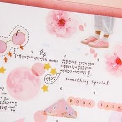 핑크 조각스티커 (3종)