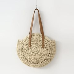 Rattan Round Shoulder Bag