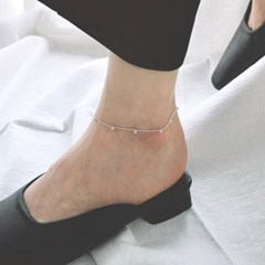 (92.5 silver) ball charms anklet