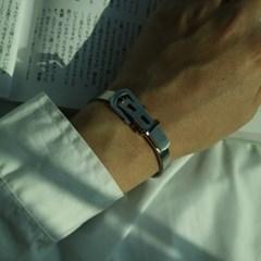 남자 뱅글 팔찌 벨트 실버 써지컬 스틸 belt silver_(895646)