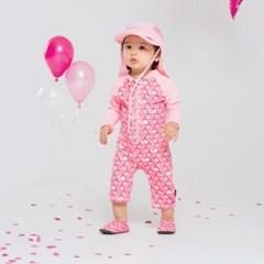 [UPF50+]쿵스쿵스 돌핀(핑크)올인원래쉬가드 유아래쉬가드