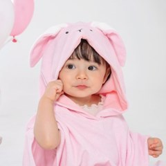 [쿵스쿵스]토끼 유아비치가운 후드타월 목욕가운_(1570836)