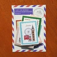 세계를 담은 빈티지 우표 스티커 팩 - 레드[RED]