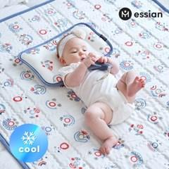 에시앙 인견 아기 쿨매트 2종(쿨매트+쿨베개)_삐에로(블_(845635)