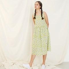 [룩캐스트] LIGHTGREEN FLOWER RIBBON DRESS 라이트