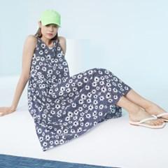 [룩캐스트] NAVY FLOWER RIBBON DRESS 네이비 플라워