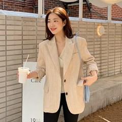 Grove linen check jacket_S (린넨 60%)_(1330493)