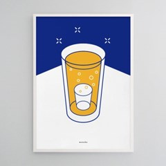 유니크 인테리어 디자인 포스터 M 소맥2 소주와 맥주 쏘맥