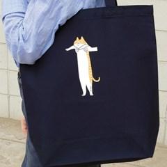 토트백 _ Long cat series (navy)