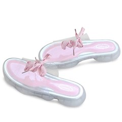 kami et muse Clear top ribbon slippers_KM19s224