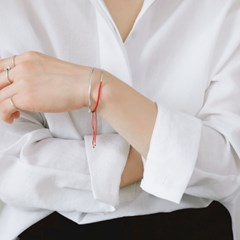 (92.5 silver) handmade knot bracelet