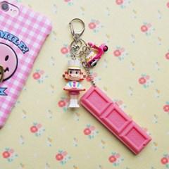 토이 키링-핑크 초콜렛걸
