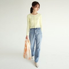 slim fit golgi crop cardigan (yellow)_(1274309)