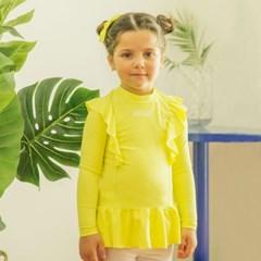 하이넥 러플 아동 래쉬가드 티셔츠 IB2SR586G