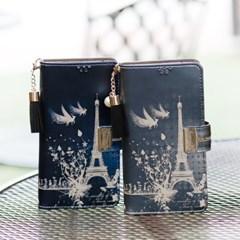 갤럭시S7엣지 (G935) Encanto-Eiffel2-T 지퍼 지갑 다이어리 케이스