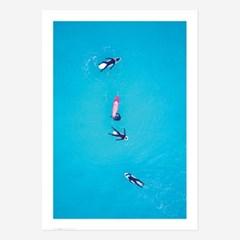 여름 바다 해변 풍경 포스터 vol.1_SB06(4서퍼)