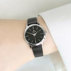 [Timepieces] 시크블랙 여성용 커플 메쉬시계 OTC218T21TSB