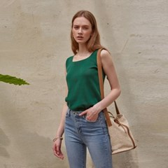 SQUARE SLEEVELESS TOP_GREEN
