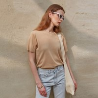 SUMMER HALF KNIT_BEIGE