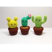[손뜨개 DIY]손뜨개인형-선인장친구들001