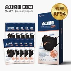 숨지킴이 KF94 대형 블랙 10매 황사방역마스크