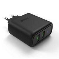 퀄컴 퀵차지 3.0 듀얼 USB 고속 핸드폰 멀티 충전기 어댑터 T2