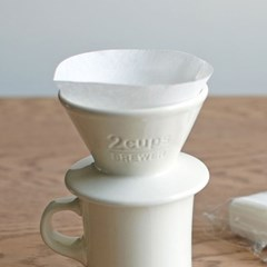 킨토 슬로우 커피 스타일 코튼 페이퍼 필터 2컵(60매)_(1327707)