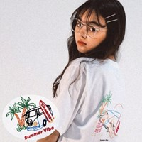 SUMMER VIBE EMBROIDERY T-SHIRT_White
