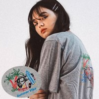 SUMMER VIBE EMBROIDERY T-SHIRT_Grey