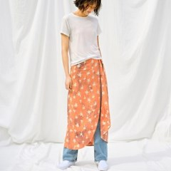 [Wrap Skirt] Palmtree - Peach