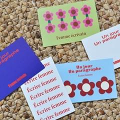 Écrire Femme-Postcard set