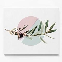 캔버스 식물 인테리어 천 그림 액자 기하학 올리브