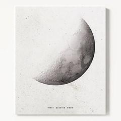 캔버스 모던 달 풍경 인테리어 천 액자 Quarter Moon