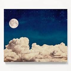 캔버스 인테리어 달 밤 풍경 그림 천 액자 Full moon