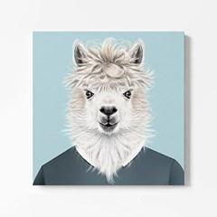 캔버스 일러스트 인테리어 그림 액자 동물 친구 라마