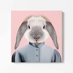 캔버스 일러스트 아이방 그림 액자 동물 친구 토끼