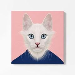캔버스 일러스트 그림 천 액자 동물 친구 고양이