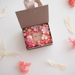 FLOWER RIBBON RING BOX / PINK