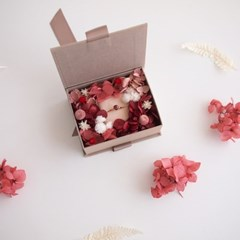 FLOWER RIBBON RING BOX / RED