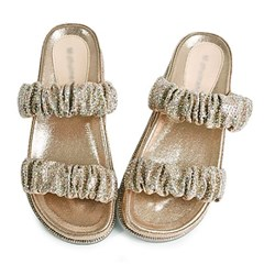 kami et muse Color glittering shrring band slippers_KM19s236